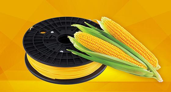 PLA (Polylactic Acid), mısır nişastası ve şeker kamışından üretilen organik bir biyopolimer ve termoplastiktir.